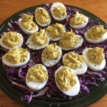 Curried Deviled eggs  - A potluck favorite -  GF