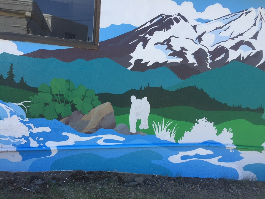 Solga's mural in progress june 20, 2018
