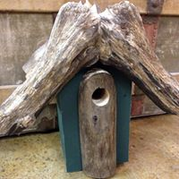 Birdhouse made from natural materials