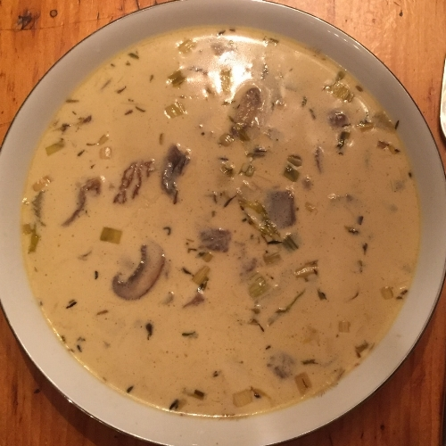Rich and earthy mushroom soup -  easy to make -  vegan options + GF