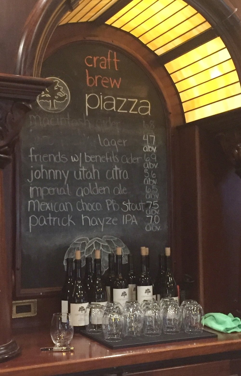 craft brews and local wine.