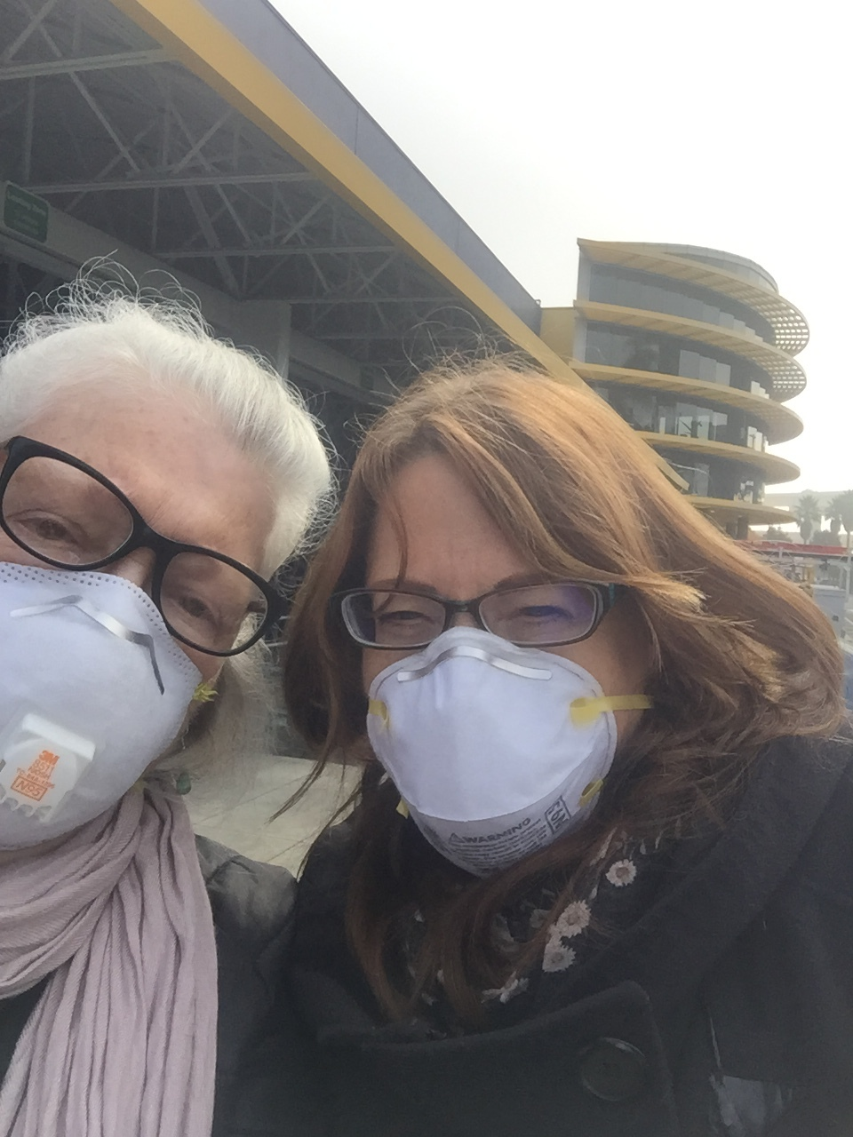 Me & Jan outside Ikea staying trying not to breath the smoke