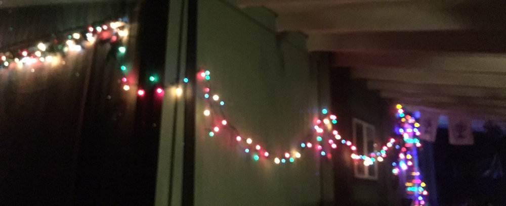 I hung light on the outside of my home sweet home.
