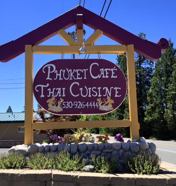 Phuket (pronounce 'Poo-ket') Thai Cafe at the south end of Mount Shasta - eat in or order take out