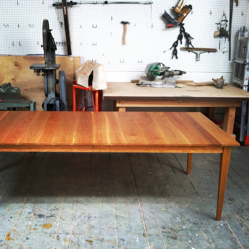 Three leaf extension table in cherry