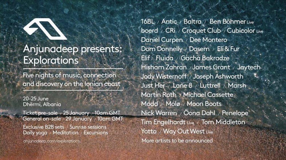 Anjunadeep Explorations Line Up