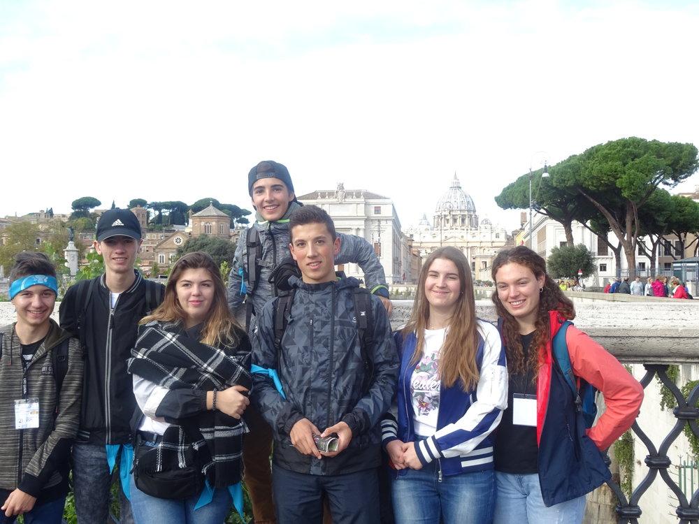 22 octobre : Premiers pas dans Rome avec une 1ère vue sur le Vatican