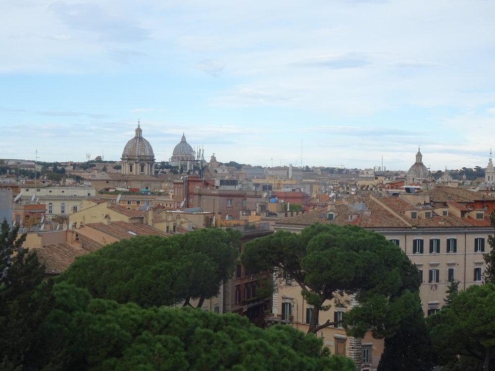 Rome vu de la basilique St Clément