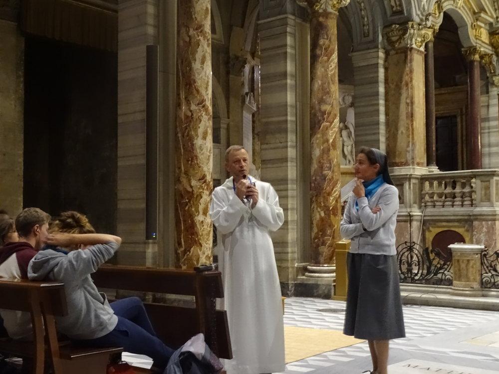 Rencontre avec frère Aloïs à la chapelle St Marc l'Evangéliste