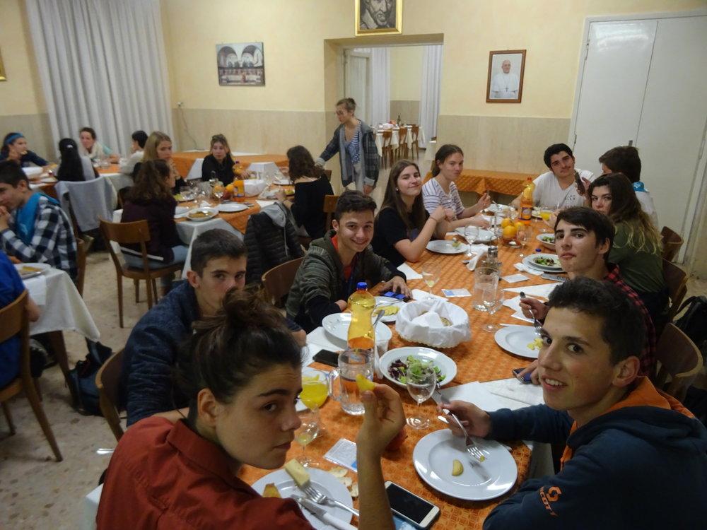Dernier repas à Casa Maria Immacolata
