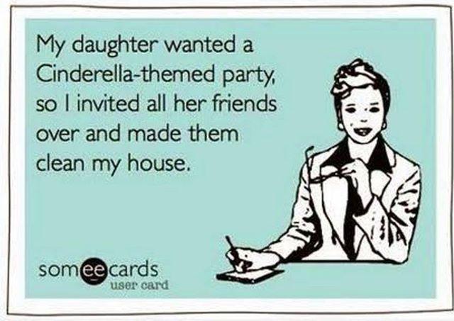 That's how Cinderella parties work right!? 🤣😏 #KidsParty #Cinderella