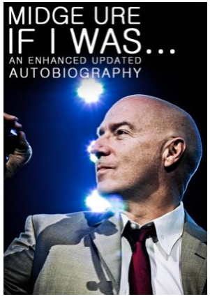 Autobiography eBook Cover - Taken at Newcastle Arena and chosen by Midge himself as the cover for his autobiographical ebook. At the ebook launch this was blown up to around 2 metres tall and looked pretty dramatic…