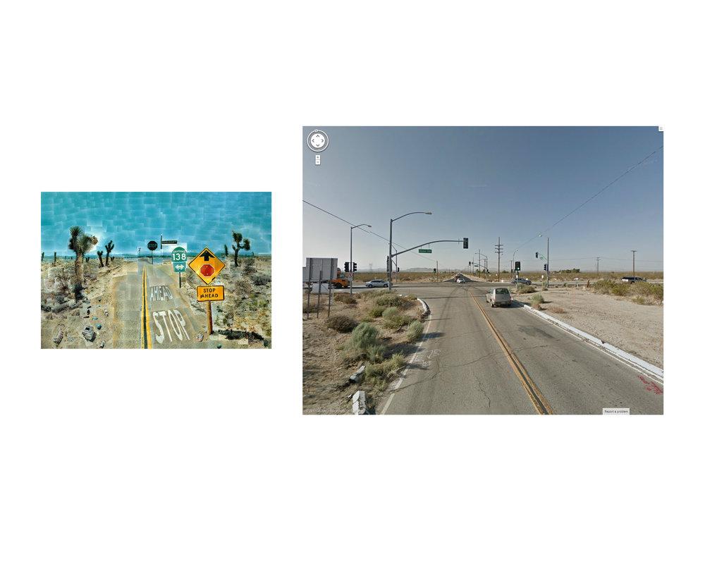 David Hockney, Pearlblossom Highway, California 1986