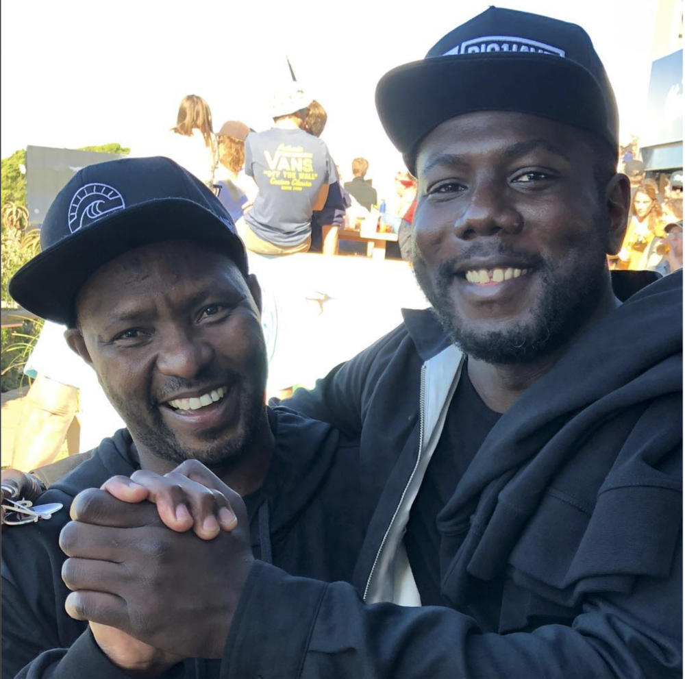 Sandile (pictured left) and Kweku Mandela