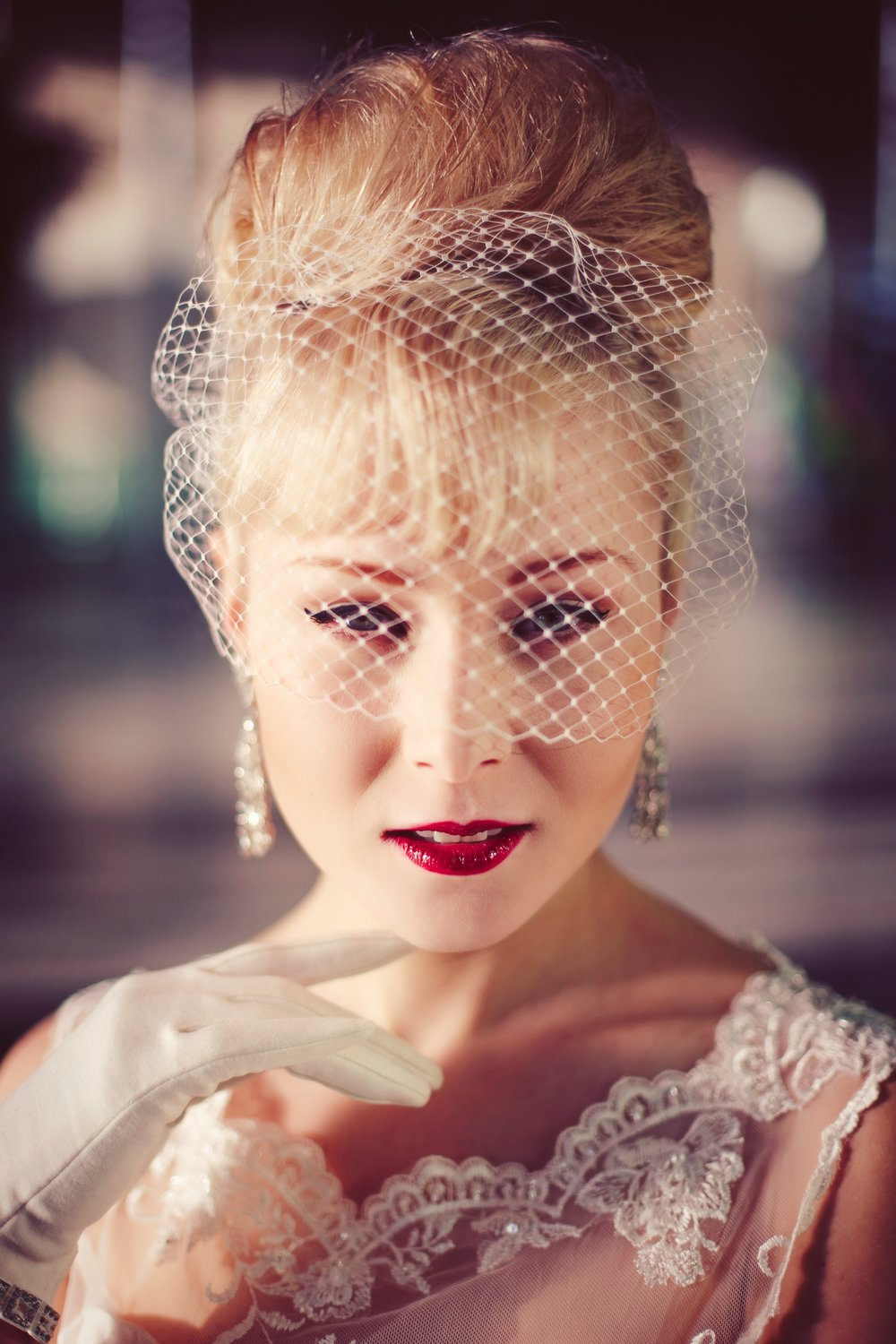 Birdcage Veils   For a true vintage feel, try one of our bespoke birdcage veils. With several shades available and their easy to attach/remove combs, these are hassle free whilst still making a big statement!