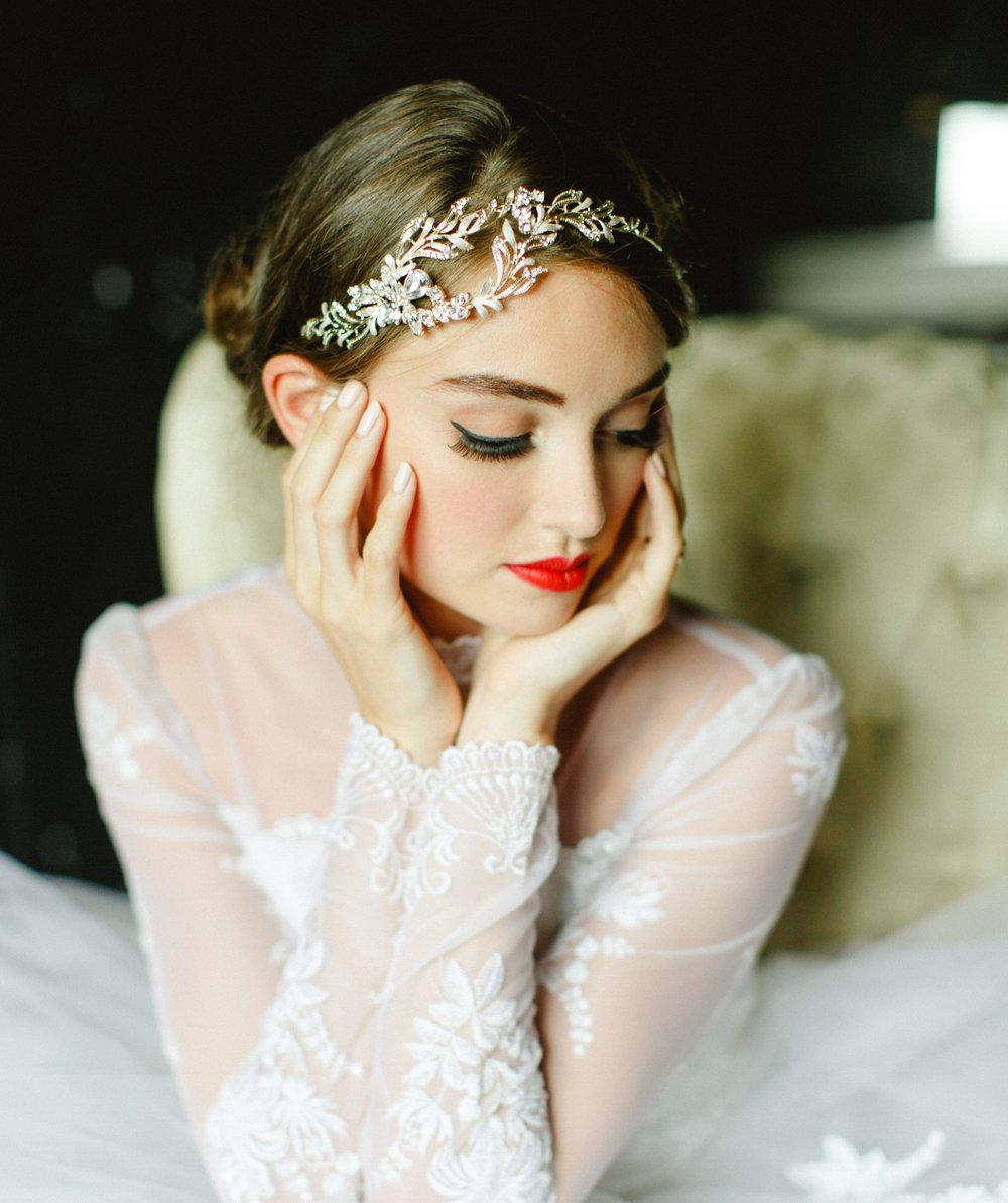 Crystal and Pearl Headbands and Vines   Who doesn't love a bit of sparkle! Dirty Fabulous has an incredible collection of new, crystal, pearl, beaded and rhinestone headbands. Choose from full bands, side pieces or hairvines that can be wrapped through your hairstyle.