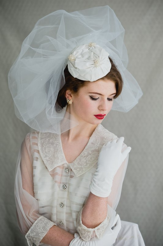 Vintage Hats   Pill-box and wide brim hats from the 1930's to 70's are the ultimate bridal accessory for anyone wearing a short and mid-length skirts or trousers. They are a fabulous way to add a bridal flourish to an understated or alternative wedding day look.