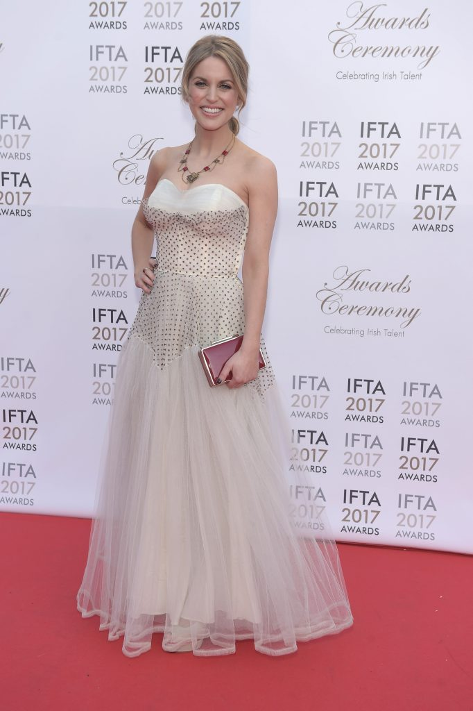 Amy Huberman wearing 1950's ballgown from Dirty Fabulous -