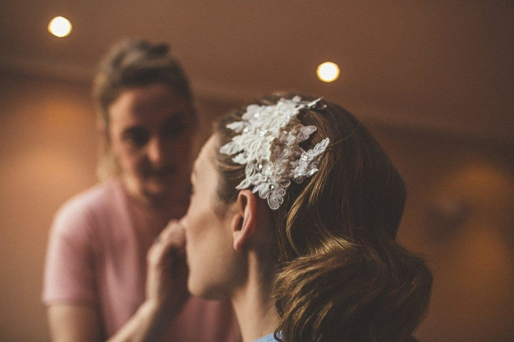Dirty Fabulous Real Bride headpiece