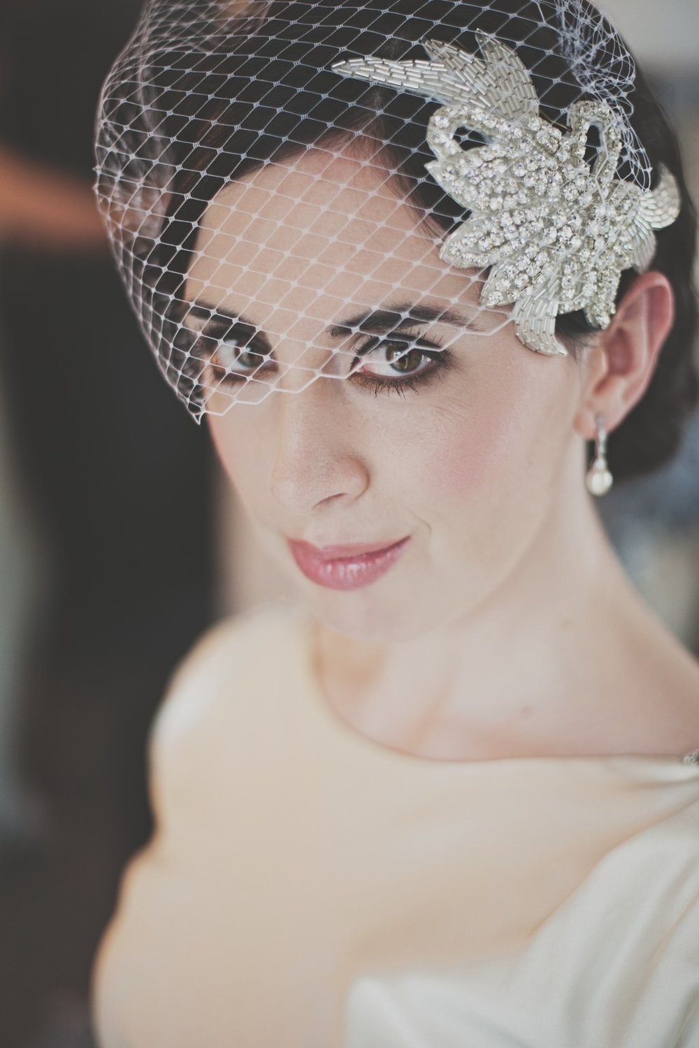 Dirty Fabulous Real Bride Birdcage veil