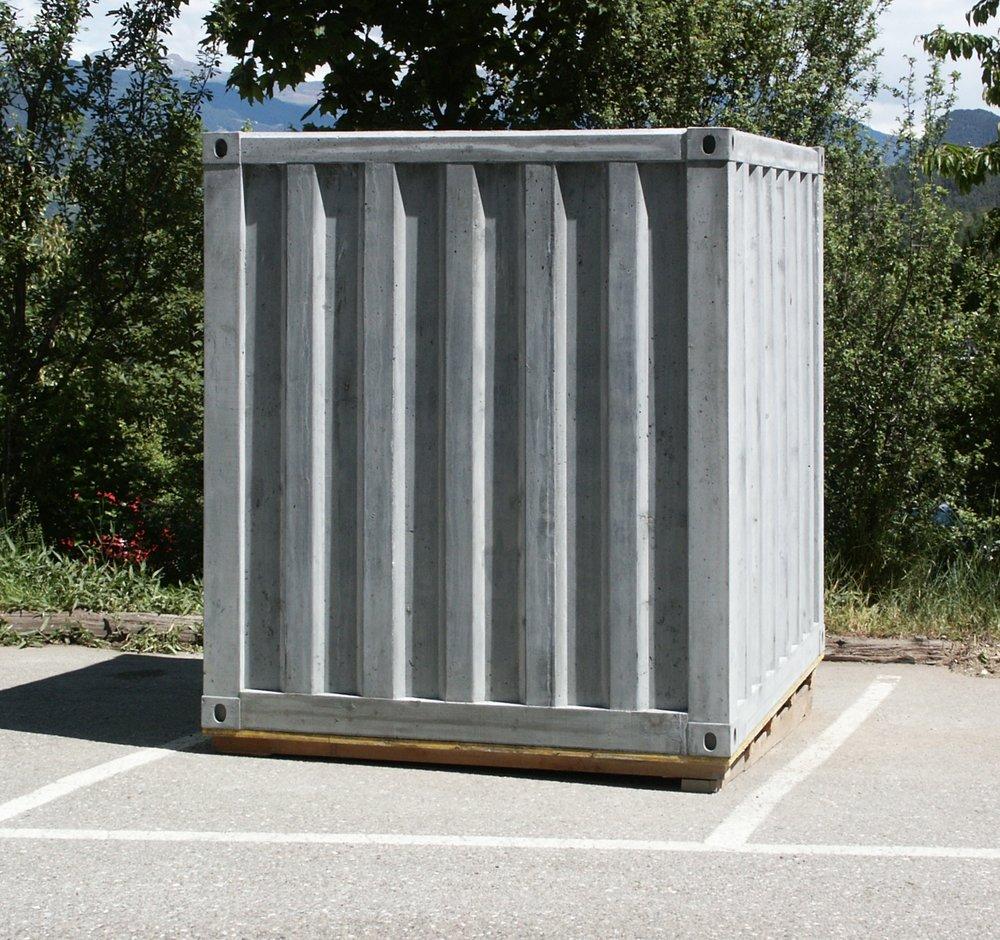 Container 2006 Stahlbeton 225 x 225 x 232 cm