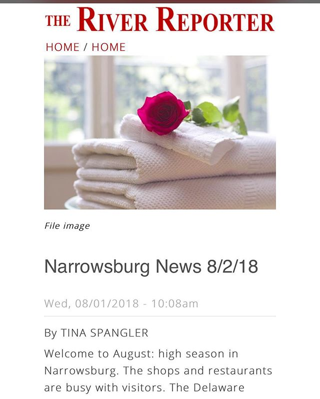 "Thank you @theriverreporter for the shout-out this week! Nice surprise to see the Inn making news, and so happy to be following in the footsteps of a long tradition of Inns and lodging here on the Delaware 🏞 🌜✨ ""The newest addition to town, the Moon River Inn (240 Bridge St.) just opened this summer. The 1860s farmhouse is located a stone's throw off Main Street..."". Learn more about the history of boarding houses and lodging in Narrowsburg at https://riverreporter.com/news-narrowsburg-news-community-living/narrowsburg-news-8218 🌝 . . Small town newspapers have a special place in my ❤️ ever since I was the high school reporter for the #CarmelPineCone way back when! Whenever I stay in a new town, I always pick up the local paper. Great way to learn about the news, events, and life in a #smalltown. So glad they're around! 🏞 . . #sullivancatskills #narrowsburg #iloveny #traveling #catskills #riverreporter #narrowsburgny #moonriverinn #smalltownlife #shoplocal #staylocal"