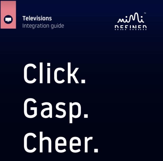 TV INTEGRATION GUIDE