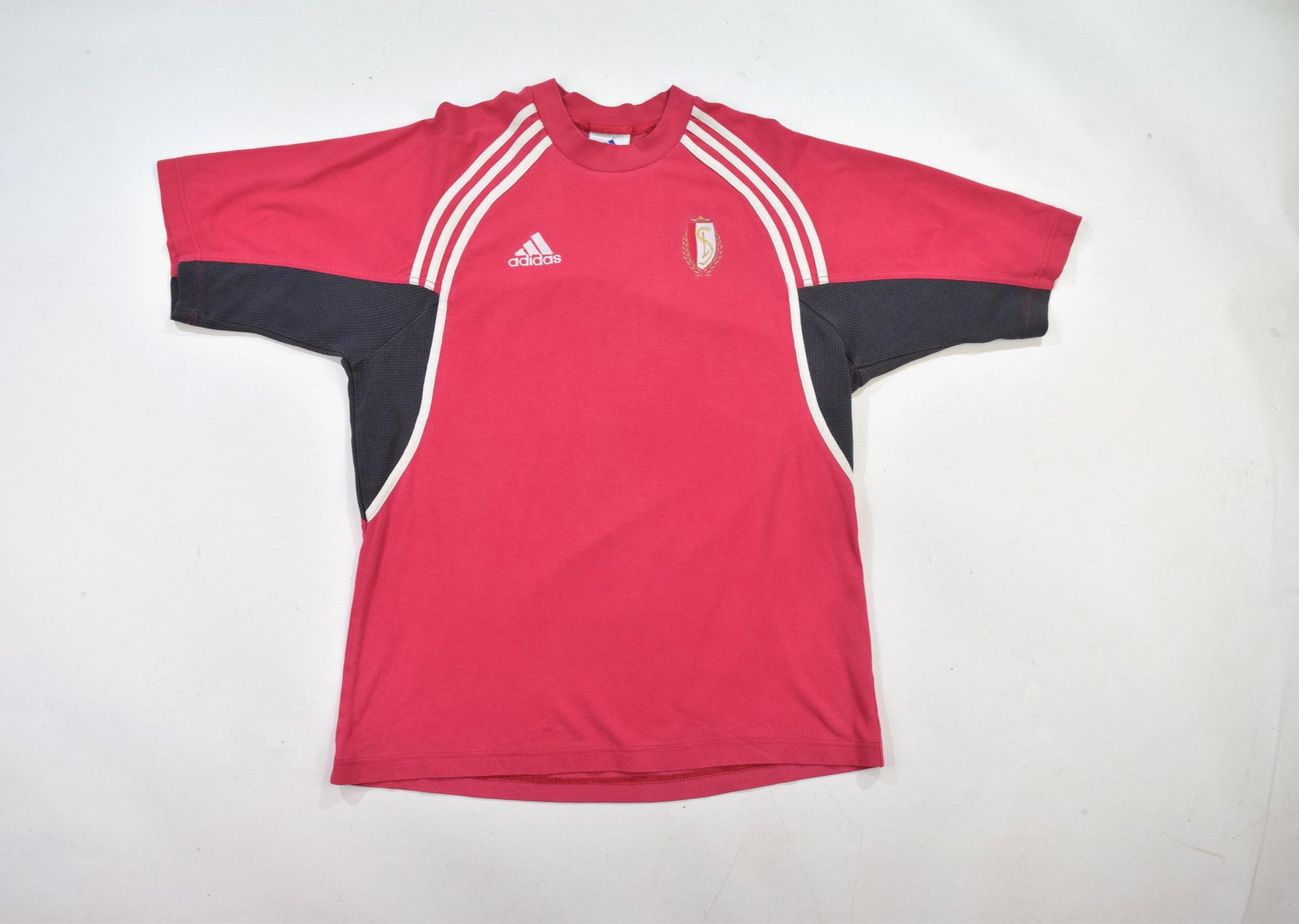 75714cee Red Black Adidas Crew Neck T Shirt — Headlock Vintage
