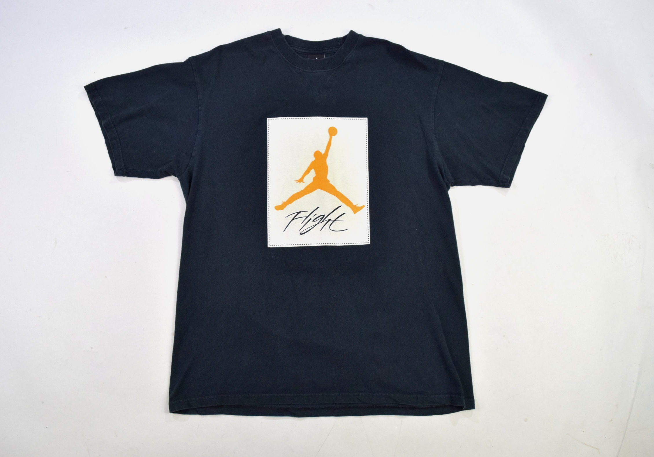 85229ae41a28 Black Air Jordan  Flight  Crew Neck T Shirt — Headlock Vintage