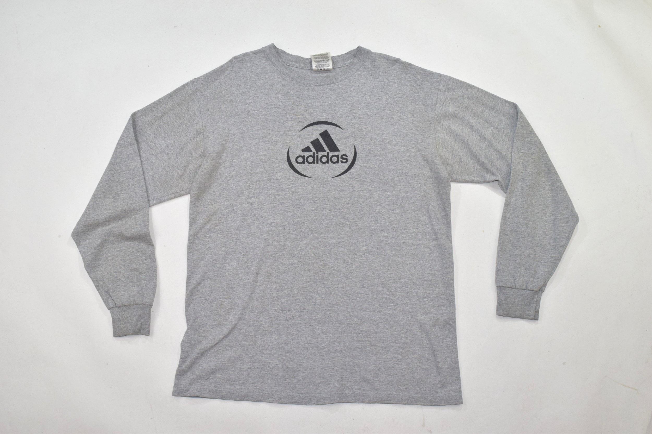 6b989f25 Grey Adidas Crew Neck Long Sleeve T Shirt — Headlock Vintage