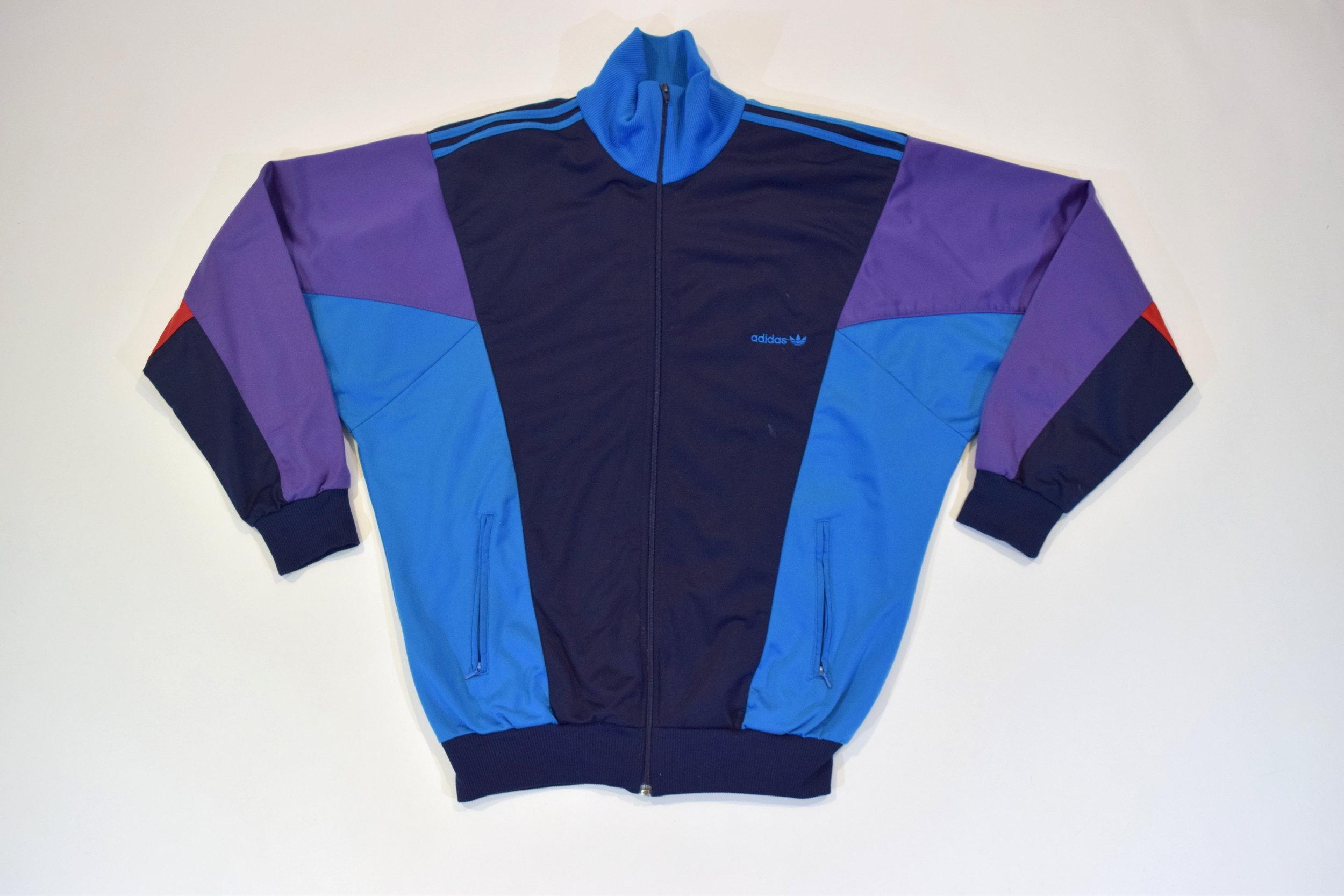 399dcaba7588 Blue Purple Adidas Originals 90s Tracksuit Top Jacket — Headlock Vintage