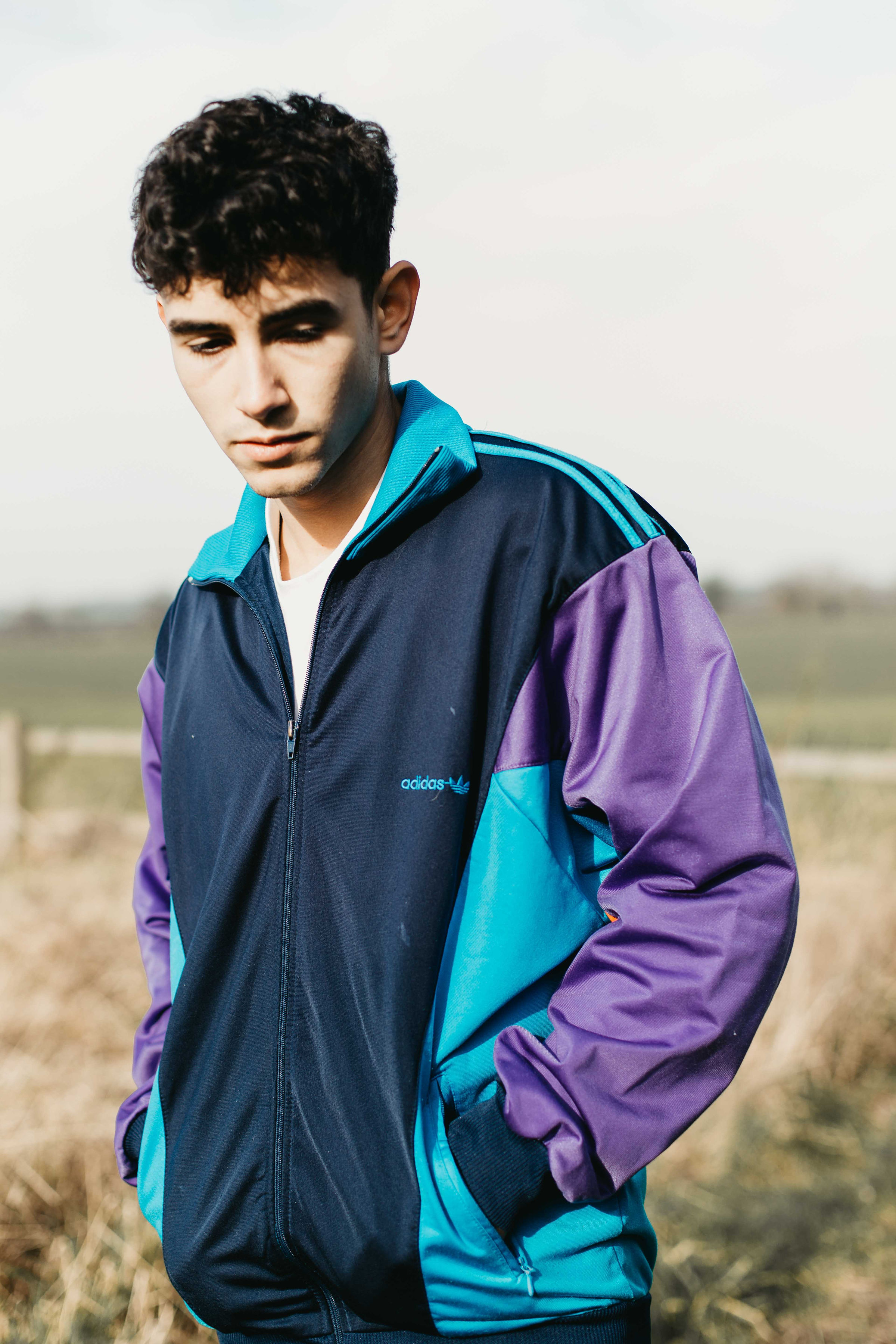 f4a13814b286 Blue Purple Adidas Originals 90s Tracksuit Top Jacket — Headlock Vintage