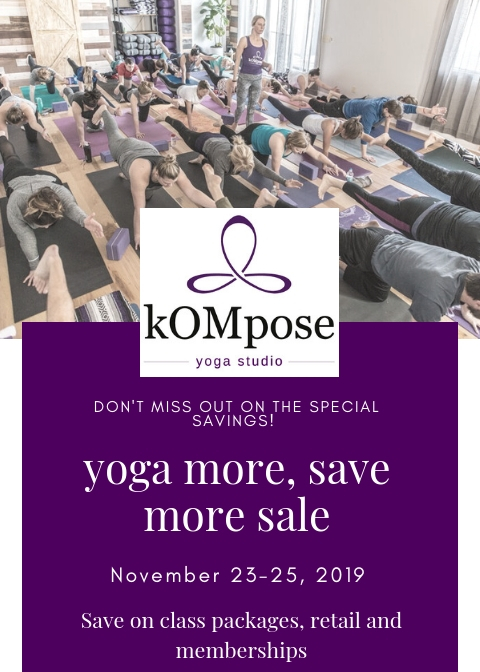 Yoga More Save More Sale Kompose Yoga