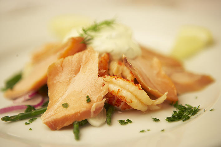 Hot Smoked Salmon Starter