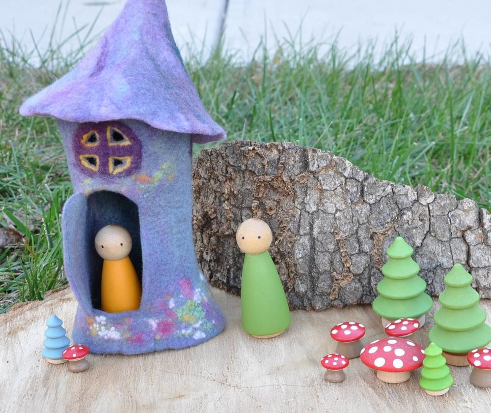 Sheep in a Tree fairy house