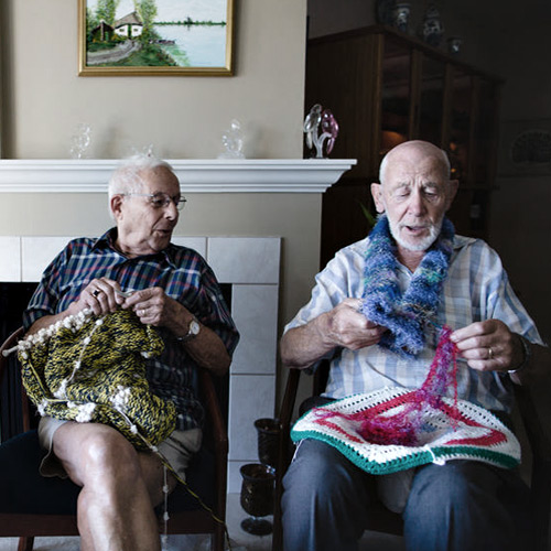 Two knitters