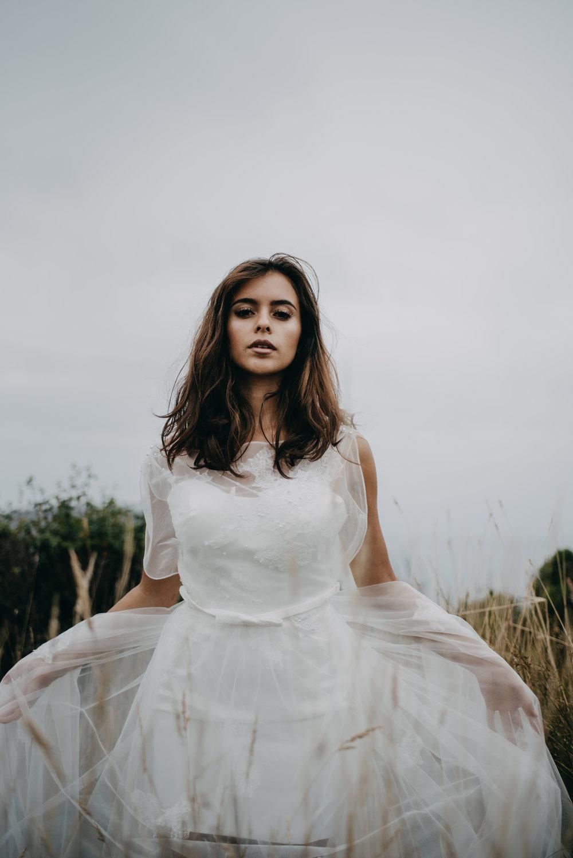 unique two piece wedding dress