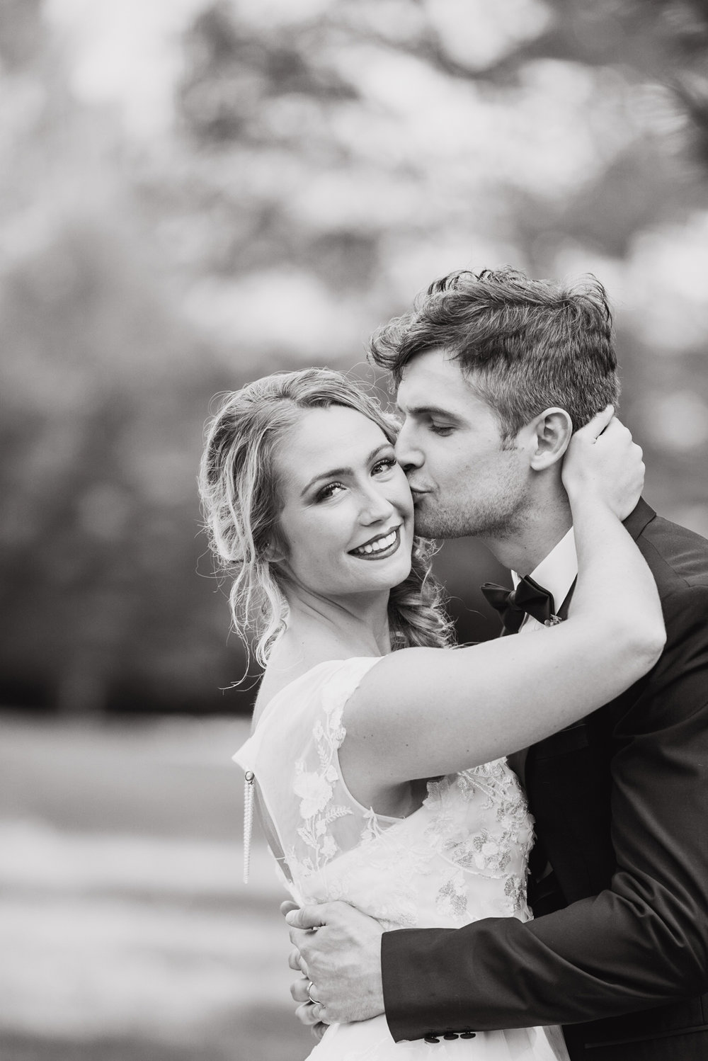 fun and playful black and white wedding photography