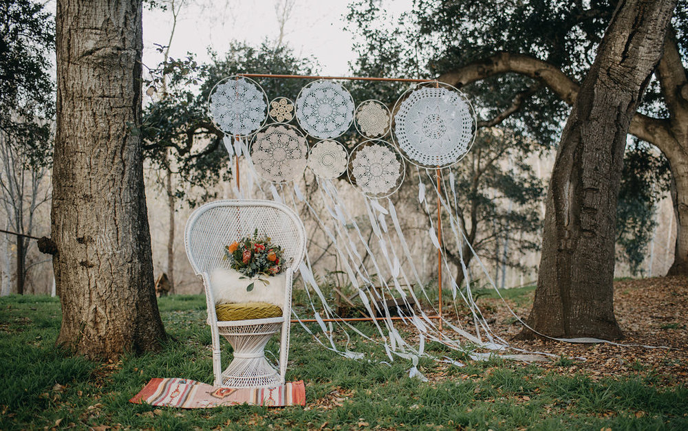 boho picnic wedding photoshoot