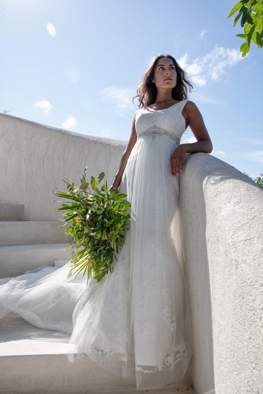 summer destination wedding turks and caicos goddess wedding dress