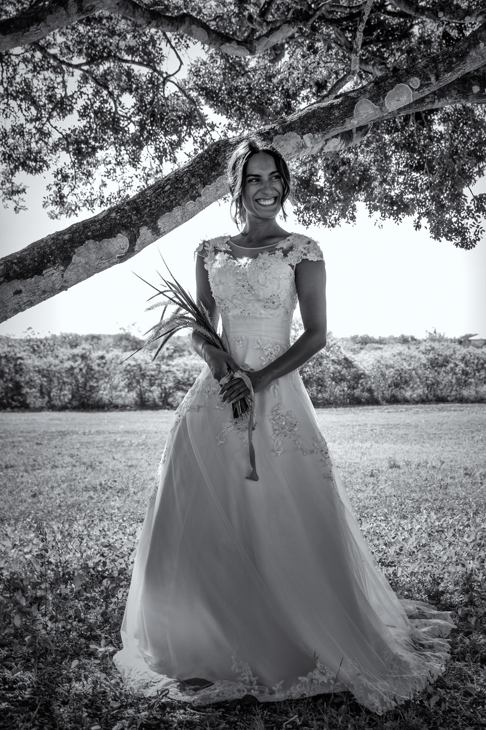 natural princess wedding dress black and white photography inspiration