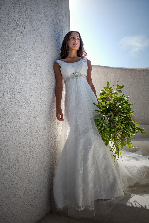 empire waist embellished wedding dress under $1000 summer wedding dress