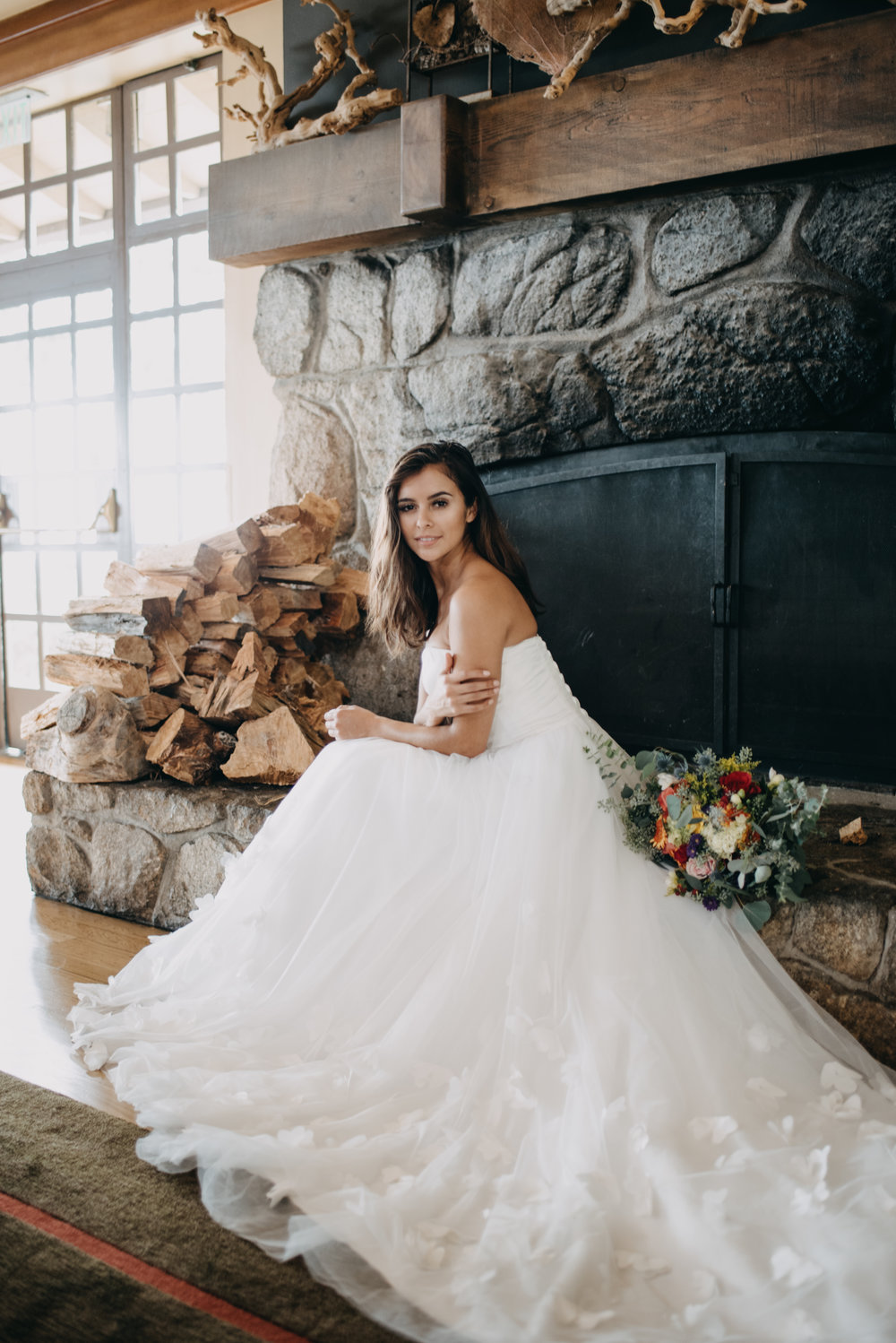 gorgeous wedding dress bridal photoshoot, simple modern wedding dress for under $1000