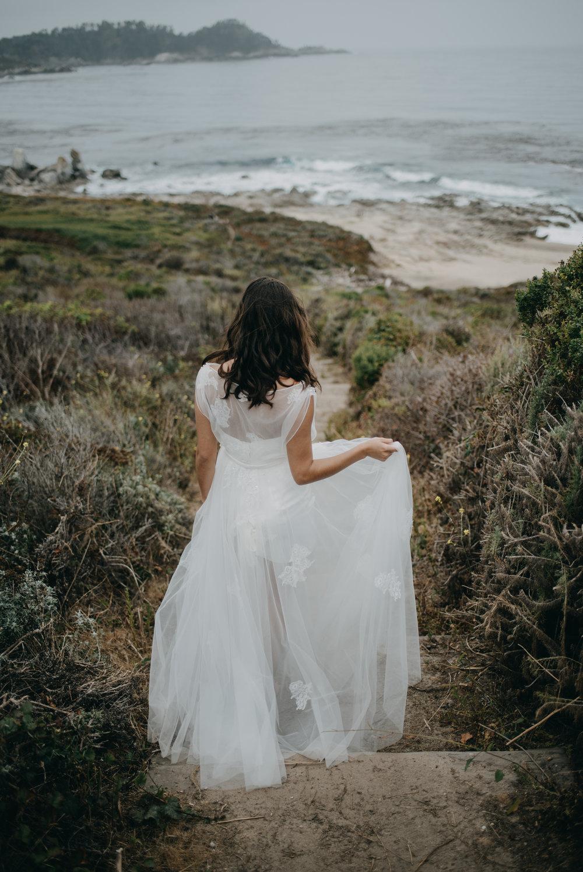 graceful elegant floral lace wedding dress