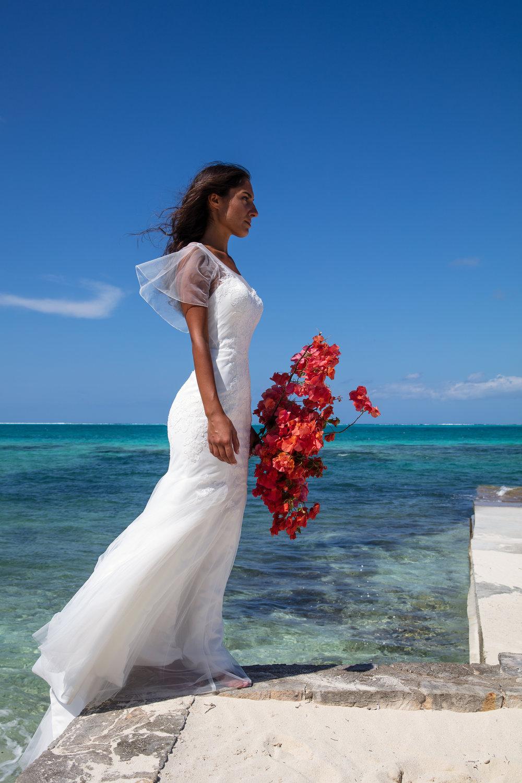 summer wedding sunny destination wedding turks and caicos modern wedding dress for smart bride