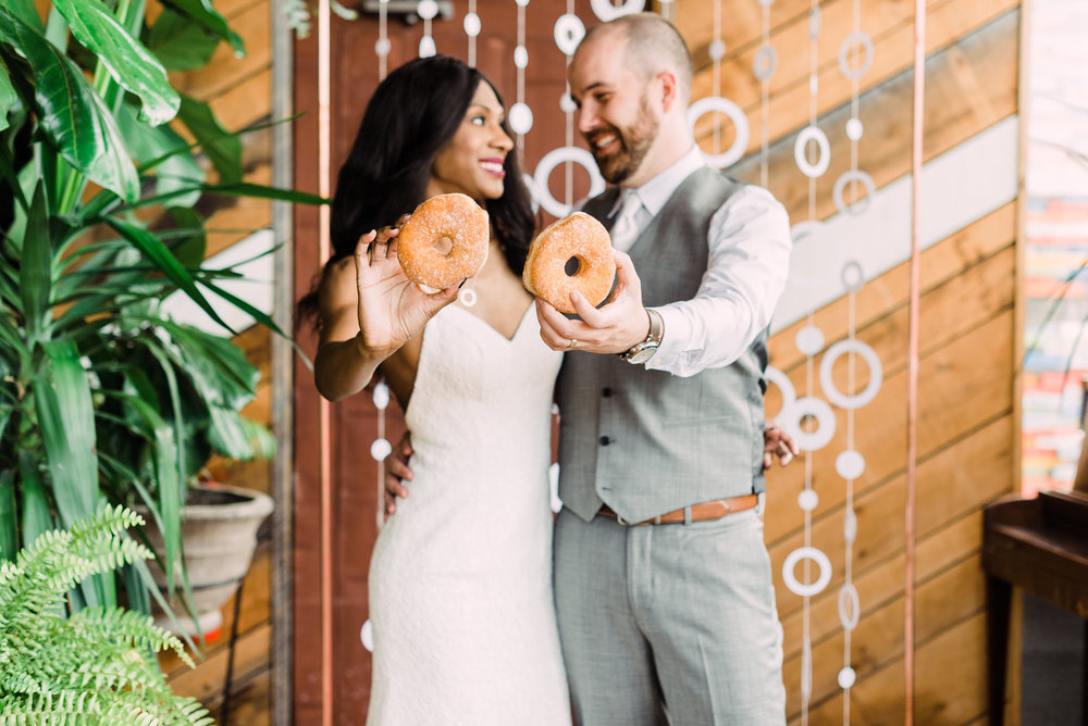 unique wedding experience small wedding donuts for wedding