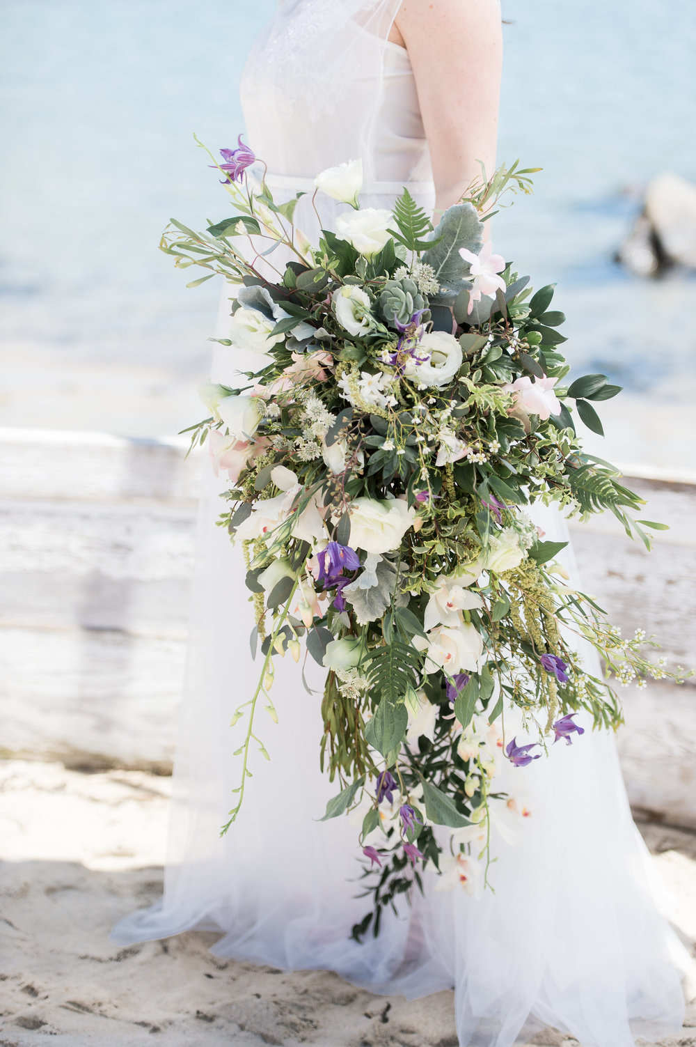 gorgeous seasonal flower cascade wedding bouquet two piece wedding dress short slip wedding dress