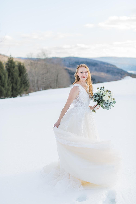 fun active bride candid wedding photo