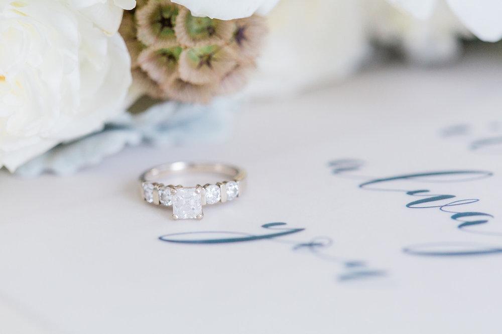 gorgeous diamond wedding ring brilliant cut emerald cut wedding ring