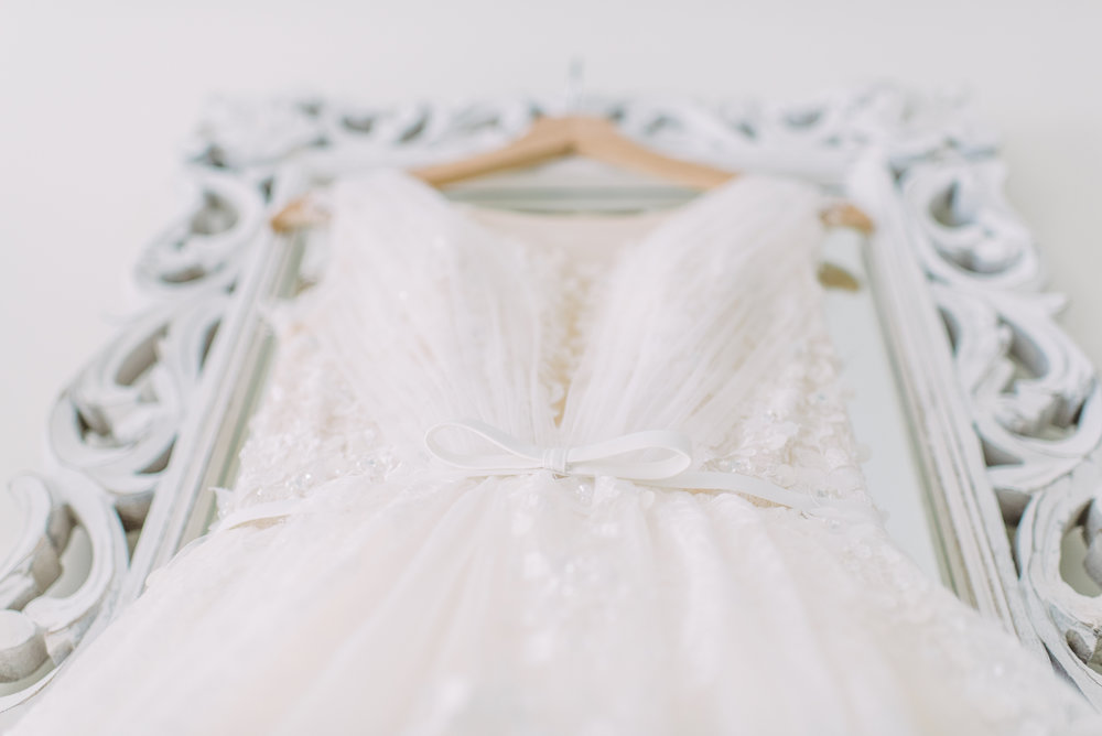 floral and sequined detail and bow waist wedding dress custom made wedding dress under $1000